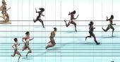 图文:世锦赛女子400米栏决赛 电子扫描冲刺瞬间