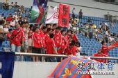 图文:[中超]重庆0-6天津 热情的球迷