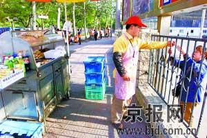 北京街头的早餐车 本报资料片