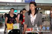 图文:中国女排抵达北京 徐云丽若有所思