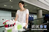 图文:中国女排抵达北京 薛明情绪不高
