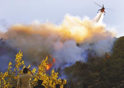 希腊森林大火危情欧盟启动民事保护机制(图)图片