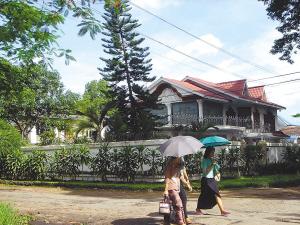 中国公司租用的小别墅