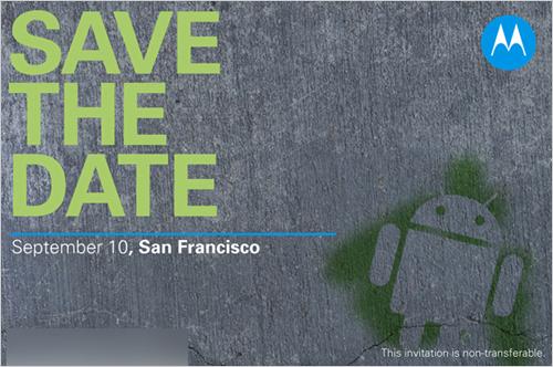 摩托罗拉九月将举行Android新品发布会