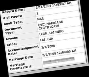 黎明乐基儿的结婚注册纪录被港媒记者发现