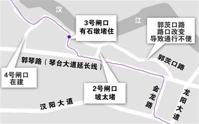 735路黄金口村营运路线示意图。制图/彭翠琳