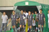 图文:[中超]杭州1-2深圳 双方球员出场