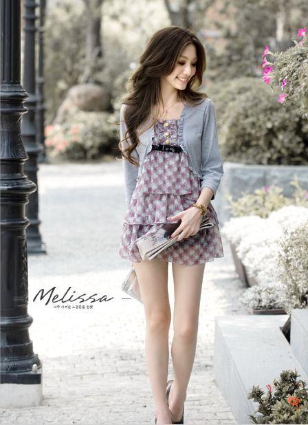 两件叠搭,秋季,聪明,夏天,甜美,时尚,服装