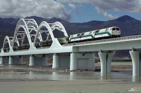 青藏铁路拉萨河特大桥