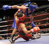 图文:拳击世锦赛战况图集 选手险些跌倒