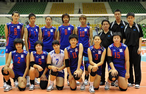图文:2009年女排亚锦赛参赛球队 中华台北队