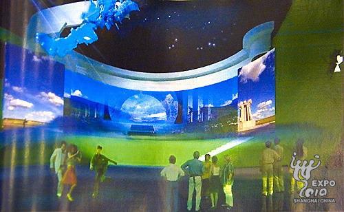 上海世博会内蒙古展区方案效果图