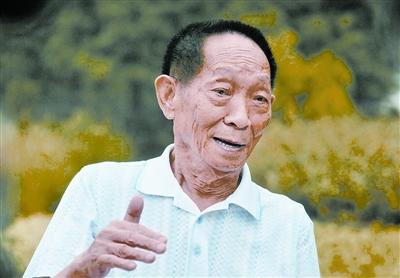 袁隆平院士在接受采访。