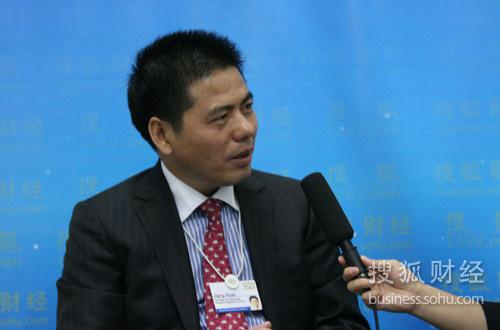 搜狐财经专访远东控股集团有限公司董事局主席蒋锡培 搜狐-崔萌/摄