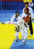 图文:侯玉琢跆拳道女子57KG级夺冠 后踢腿