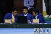 图文:全运会跆拳道女子57公斤级决赛 裁判审议