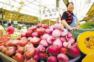 市场上的洋葱比往年涨价了