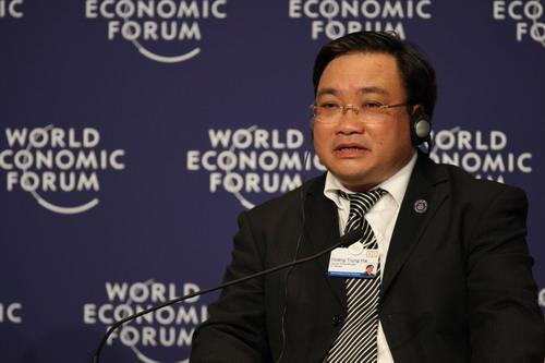 越南副总理Hoang Trung Hai 搜狐-崔萌/摄