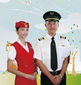图:《空姐》漫画版剧照――冉静和乔克