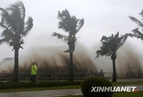 台风 巨爵 登陆 引发广东珠海恶劣天气
