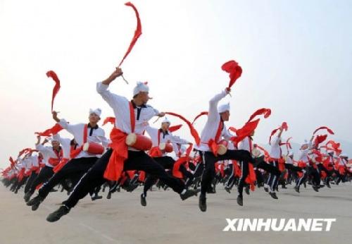 国庆60周年群众游行队伍训练基本完成