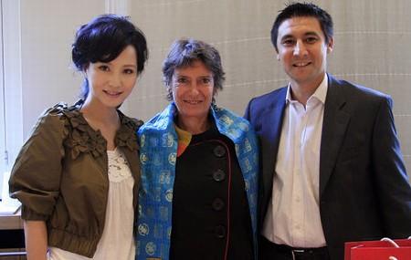陶红和法国电影局主席Veronique Cayla女士和副主席Roland Husson先生