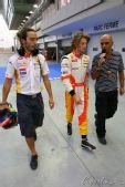 图文:F1新加坡站第一次练习 红牛车手格罗让