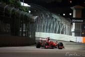 图文:F1新加坡站第一次练习 费斯切拉练习中