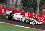 图文:F1新加坡站练习赛 巴顿在比赛中