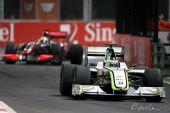 图文:F1新加坡大奖赛正赛 巴顿完成比赛