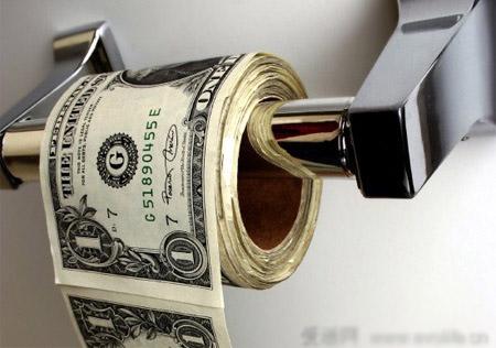 美元也能当手纸?
