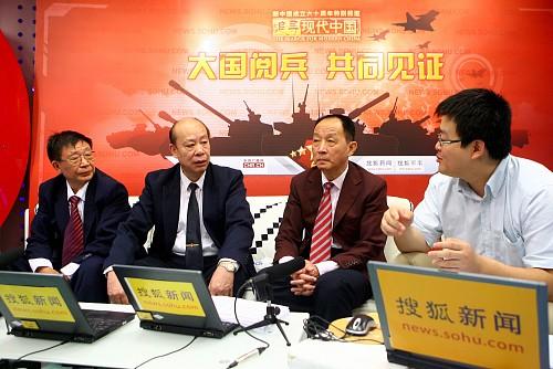 左起:李大成、傅前哨、李杰和主持人张鹏