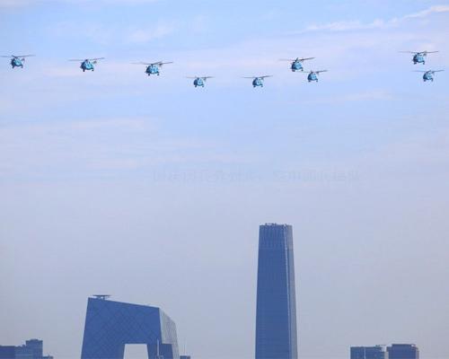国庆受阅直升机间距仅30米×30米