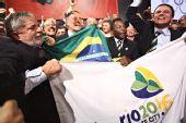 图文:巴西申奥成功一片欢腾 巴西申奥团庆祝