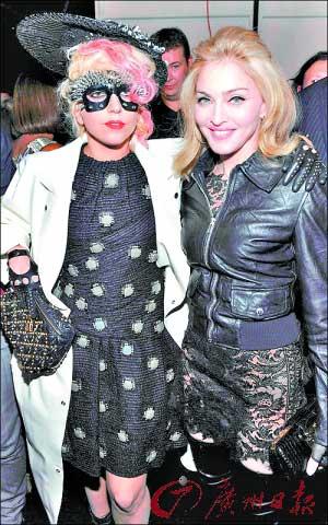 麦当娜和Lady GaGa看时装秀
