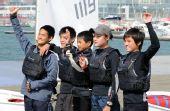 图文:全运会OP级帆船团体决赛 亚军贵州队成员