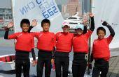图文:全运会OP级帆船团体决赛 冠军上海队成员
