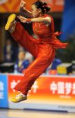 图文:全运会武术女子长拳 马岚在比赛中