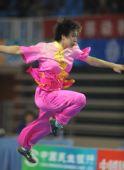 图文:全运会武术女子长拳 刘晓蕾在比赛中