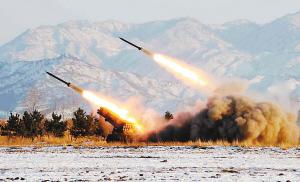 朝鲜试射导弹(资料图片)