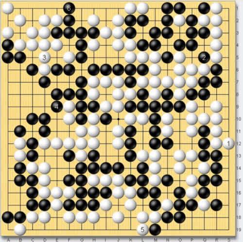 天黑黑口风琴谱子-图3:这是实战的进行.黑2断是本局的第241手,也是最终的胜招.此