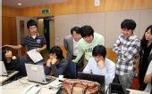 图文:三星杯八强激战 韩国棋手集体关注比赛