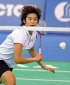 图文:羽毛球女单王琳淘汰谢杏芳 王琳在比赛中