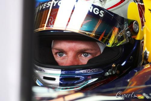 图文:F1巴西站第一次练习赛 维特尔专注的眼神