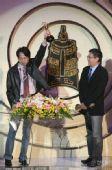 图:金钟奖现场 刘嵩和谢欣志发表获奖感言