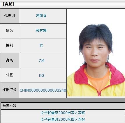 来自十一运会官网的郭林娜资料