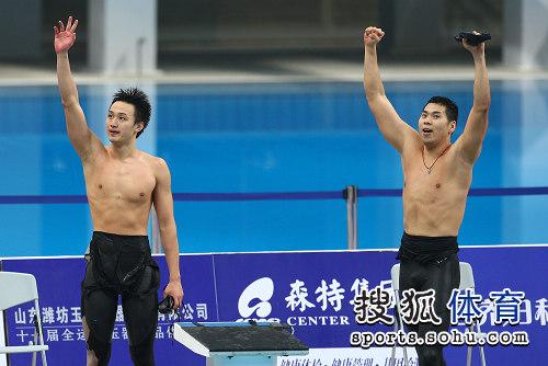 图文:4x100米接力北京摘金 打破亚洲纪录