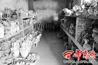 洛阳周边许多农民从事文物古董的复制、仿造生意