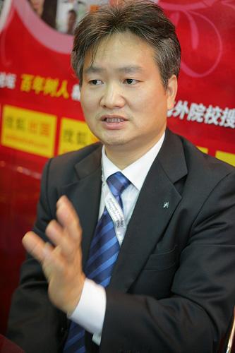 德国法兰克福金融与管理学院(法兰克福财经管理大学)中国代表闫裕民 搜狐-刘丹/摄