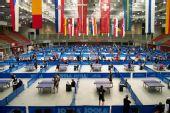 图文:乒球团体世界杯举办地 洲际杯赛已经展开